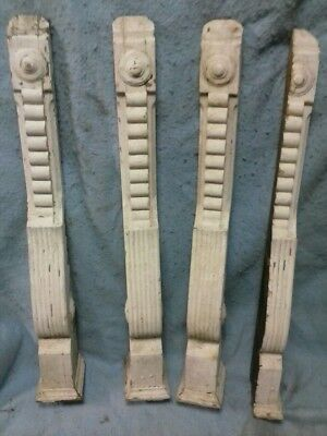 Four Victorian Style Scrolled Wood Corbels - C 1880