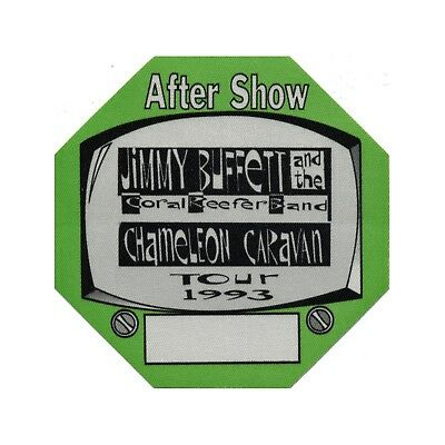 Jimmy Buffett authentic Aftershow 1993 tour Backstage Pass
