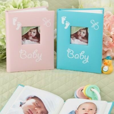 24 Blue & Pink Baby Photo Book Christening or Baby Shower Favors