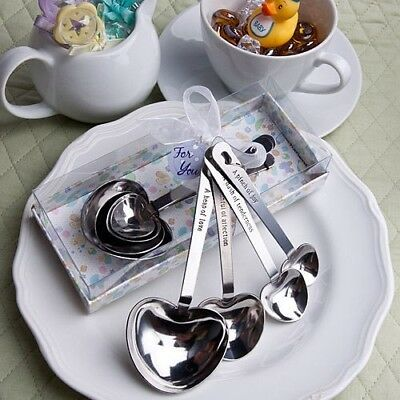 72 Heart Shaped Baby-Themed Measuring Spoons Shower Gift Favors