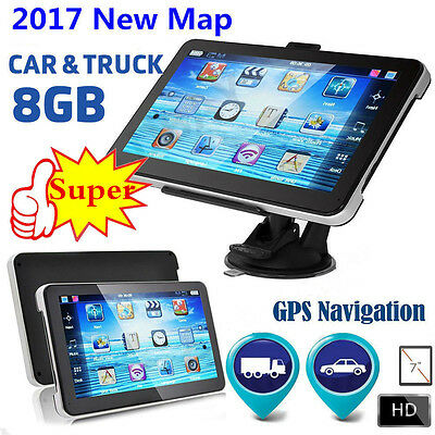 2017 New 7'' 8GB GPS + Free AU 3D Maps Updates FM SAT NAV Navigation Sytem