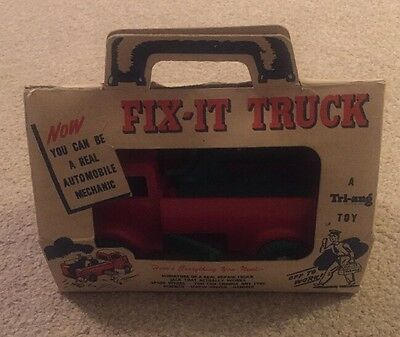 Triang Fix It Truck & Repair Kit Boxed Complete 1950s Tri Ang