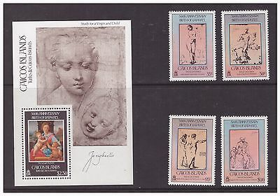 Caicos Islands 1983 Art Artist  Raphael set  sheet  MNH mint stamps