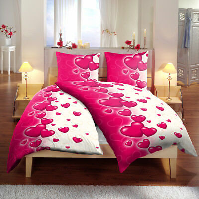 bettw sche estelle beere biber 135x200 lila baumwolle winter warm rosa streifen eur 27 99. Black Bedroom Furniture Sets. Home Design Ideas