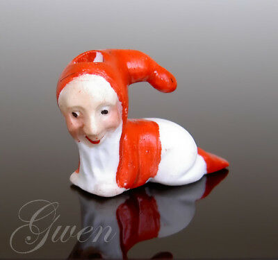 Feve Ancienne Nain Lutin Gnome 25 x 35 mm Porte Bougie Biscuit Miniature 1890