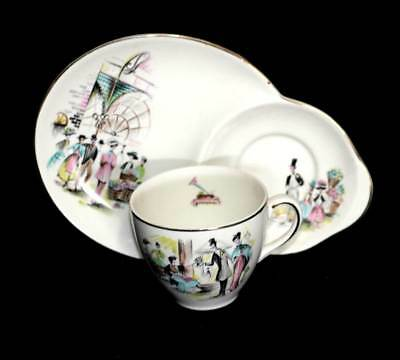 Vintage Alfred Meakin 1960s MY FAIR LADY tennis set teacup and plate