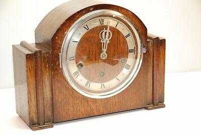 Art Deco Style Westminster chime Mantle Clock, G.W.O