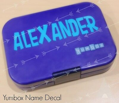 Yumbox Name Sticker - Custom Personalised Lunch Box Vinyl Label Decal