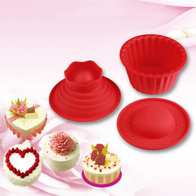 FT- 3Pcs Silicone Ice Cube Candy Chocolate Cake Cupcake Soap Mold Mould DIY Eyef