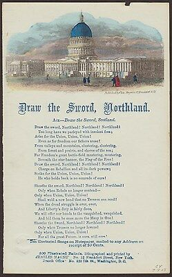 Civil War: Magnus Hand Colored Songsheet Draw the Sword, Northland