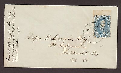 Confederate: Kinston, NC CSA #4 (Top Sheet Margin) Cover to Fort Defiance