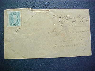 Confederate: Mississippi, Webster 10c Cover, Ms, DPO Winston Co