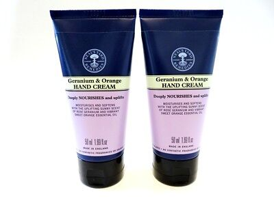 2 X Neal's Yard Geranium & Orange 50Ml Hand Creams Only £9.99 Free Post - Yes 2