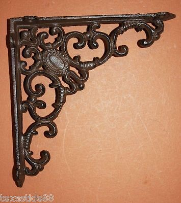 (6)pcs, ELEGANT VICTORIAN STYLE SHELF BRACKETS, ANTIQUE-LOOK VICTORIAN, B-29