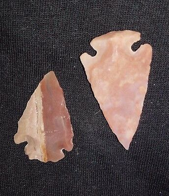2 Ancient Neolithic Flints Arrow head 6000-4000 BC
