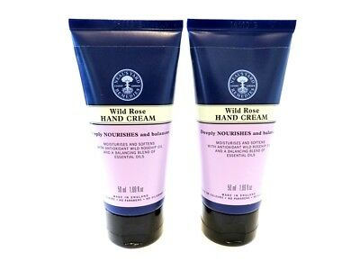 2 X Neal's Yard Wild Rose 50Ml Hand Creams Only £9.99 Free Post - Yes 2 !!!