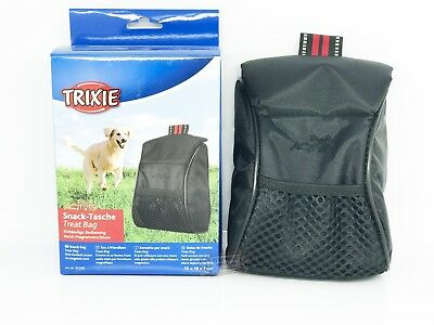 Dog Treat Bag Puppy Training black treat holder magnetic flap 13x18x7cm trixie