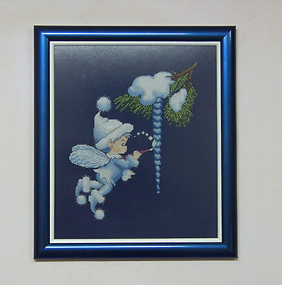 Ice Baby - Finished framed completed Cross Stitch