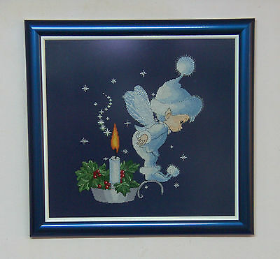 Baby Fairy - Finished framed completed Cross Stitch