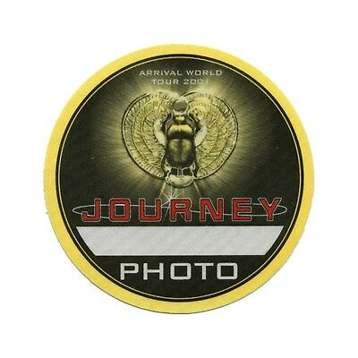 Journey authentic 2001 Arrival Tour satin Backstage Pass photo yellow
