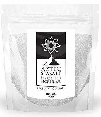 Fleur De Sel Gourmet Unrefined Kosher Salt - Natural Flor De Sal Sea Salt, 4oz