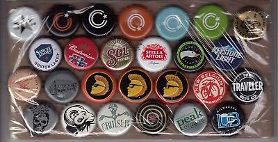 26 dented beer bottle crown caps from George in Canada