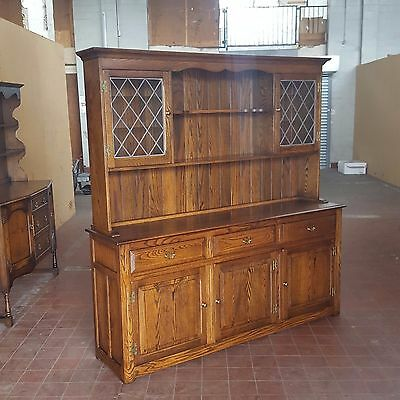 Antique/reproduction Furniture Large Solid Oak Dresser Of Very High Quality