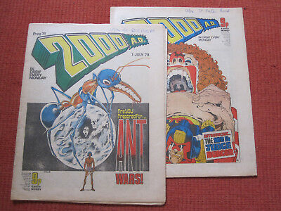 2000AD Comic Progs 71 & 72 Burger Wars complete story Banned