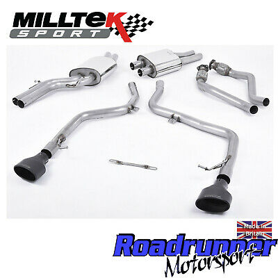 Milltek Audi S4 3.0 V6 B8 Exhaust Race Version Cat Back Non Res Ovals Ssxau240