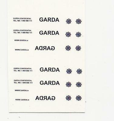 26 X Waterslide Decal Ideal For Code 3 Irish Police Garda Models 1/76 Scale