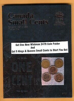 King & Queen Whitman 2479 Canada Small Cents 1920-1988 #1, Coin Folder Canadian
