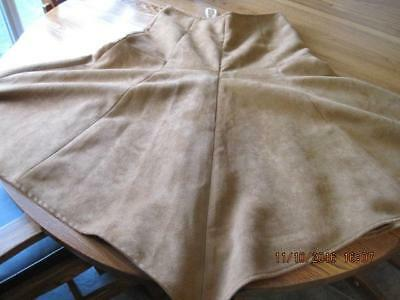 Authentic Western COWGIRL Brown Suede Long Skirt CINOLE Size M