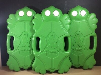 Rare Vintage 1980s Mr Turtle Green Frog Kick Board Floaty Pool Toy COLECO X3