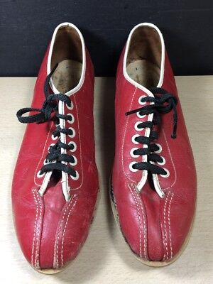 Vintage '70s Red BOWLING Shoes Rental size 7 1/2 -8