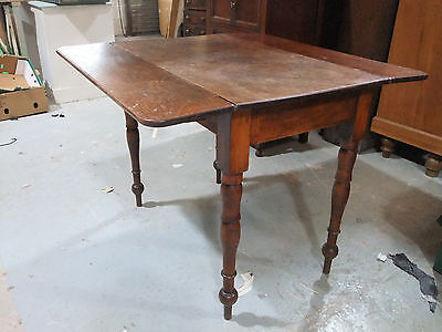 Victorian Solid Mahogany Pembroke Table With Drawer c.1870  [4702]