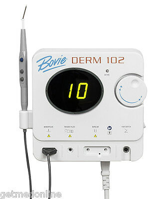 NEW ! Bovie DERM 102 10W High Frequency Dessicator w/Bipolar, DERM 102