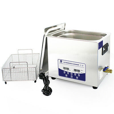 SKYMEN 2.85 gal / 10lt Heated Ultrasonic Cleaner w/Basket, JP-040S | US SELLER