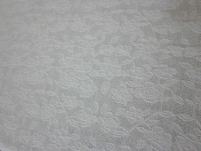 Stunning Vintage Pale Yellow Floral Embossed Tablecloth 52X68