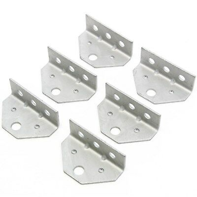 6 Bracket Top Angle for Swivel Top, Boat Trailer, Bunk Board Mount Dimpled Steel