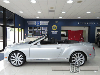 2012 Bentley Continental GT GTC Convertible 2012 BENTLEY GTC SILVER/BLACK STUNNING INSIDE AND OUT