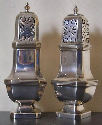 Pair of Top Quality Sheffield Silver Plated Sugar Shakers Pinder Bros circa 1924