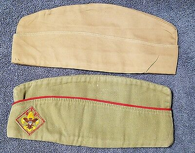 Lot of 2 VINTAGE BOY SCOUTS OF AMERICA GARRISON CAP OFFICIAL FIELD HAT