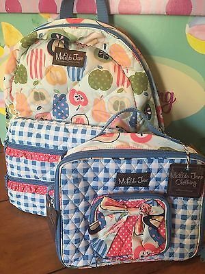 Matilda Jane Study Group Backpack & All Packed Up Lunchbox  Matching  Set NWT