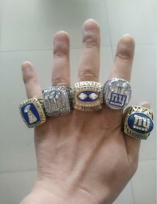 1986 1990 2000 2007 2011 New York Giants World Championship Ring 5 together