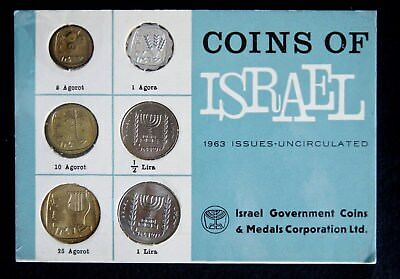 1963 Jerusalem Coins of Israel Uncirculated Issue Set (07943)
