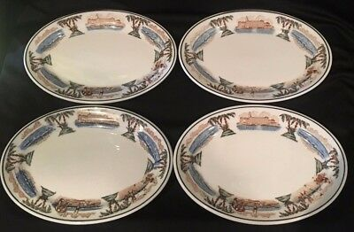 """Set 4 THE VINOY PARK HOTEL St Pete FL 7.25"""" x 5.25"""" Oval Dishes McNicol China Co"""