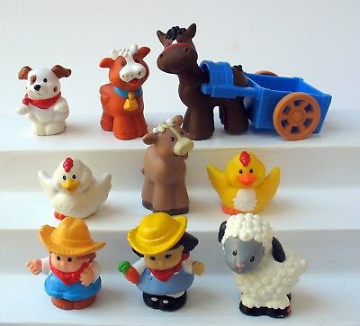Fisher Price Little People Barn Farm Animals Lot +++