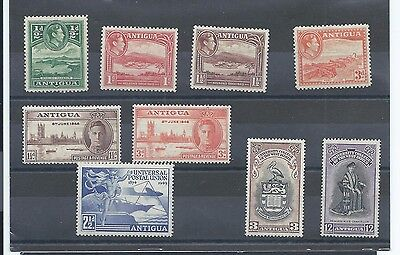 Antigua stamps. Small George VI MH lot (X305)