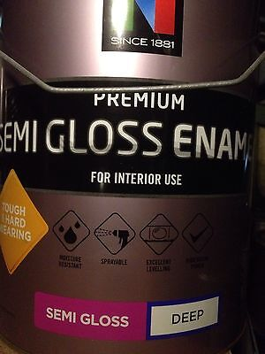 Nippon Paint Semi-gloss Enamel 10 litre can, New $10.each bring your truck