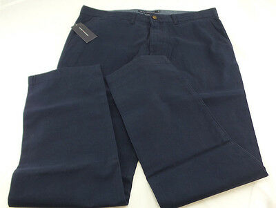 Tommy Hilfiger Men's Tailored Fit Dress Pants Navy US Size 34x30 NWT